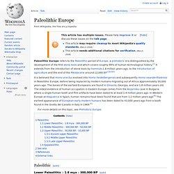 Paleolithic Europe