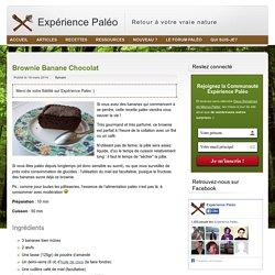 Recette paléolithique : brownie banane chocolat