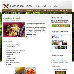 Recette paléolithique : Assiette automnale