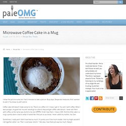 Microwave Coffee Cake in a Mug
