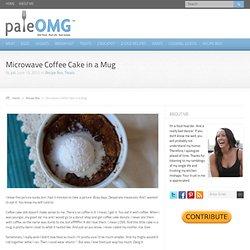 Microwave Coffee Cake in a Mug