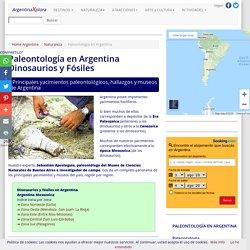 Paleontologia en Argentina - Yacimientos, hallazgos y museos