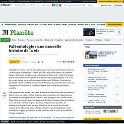 Paléontologie : une nouvelle histoire de la vie