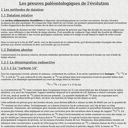 preuves paleontologiques de l'evolution