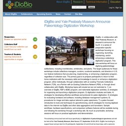 iDigBio and Yale Peabody Museum Announce Paleontology Digitization Workshop