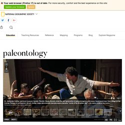 paleontology - National Geographic Society