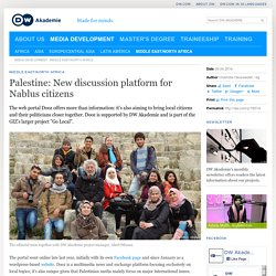 Palestine: New discussion platform for Nablus citizens
