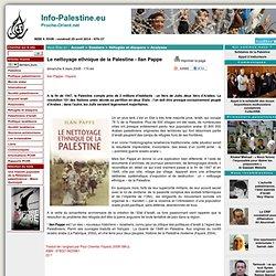 Nettoyage ethnique de la Palestine par Ilan Pappe