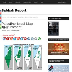 Palestine-Israel Map 1947-Present