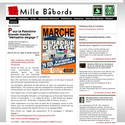 "Pour la Palestine Grande marche ""Mehadrin dégage !"""