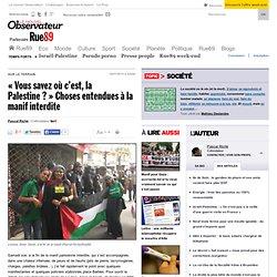 «Vous savez où c'est, la Palestine?» Choses entendues à la manif interdite