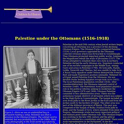 Palestine under the Ottomans