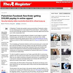 Palestinian Facebook flaw-finder getting $10,000 payday in online appeal