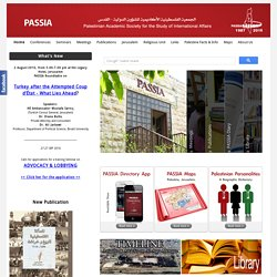 PASSIA - Palestinian Academic Society for the Study of Internati