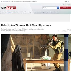 Photos published of moment Israeli soldier shot Palestinian woman, IDF say it was self-defence