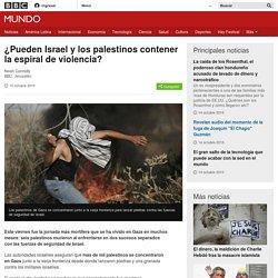 ¿Pueden Israel y los palestinos contener la espiral de violencia? - BBC Mundo
