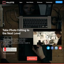 Palette Gear: Hands-on Control of your Favourite Software