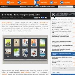 Book Palette : des modèles pour iBooks Author