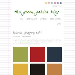 Palette pingpong no21 - the green gal