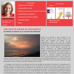 Palette de sentiments