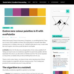 Evolve new colour palettes in R with evoPalette - Daniel Oehm