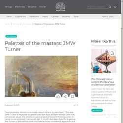 Palettes of the masters: JMW Turner