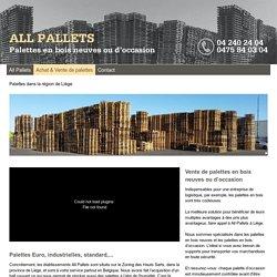 Palettes en bois à Liège & palettes d'occasion