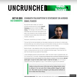 Chamath Palihapitiya's Statement On Airbnb Email Fiasco « UNCRUNCHED