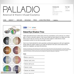 Palladio Beauty — Baked Eye Shadow Trios