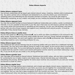 Pallas Aspects