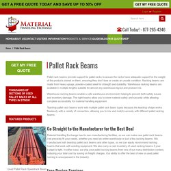 Pallet Rack Beams – New Warehouse pallet Racking