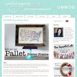 DIY Pallet Frame {Poster Size} - Spoonful of Imagination