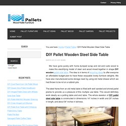 DIY Pallet Wooden Steel Side Table