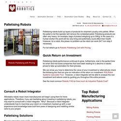 Palletising Robots Improve Production Process