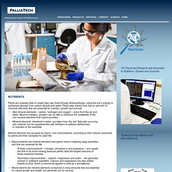 PalliaTech Science – Nutrients