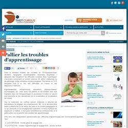 Pallier les troubles d'apprentissage