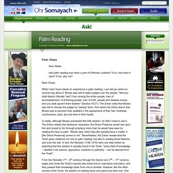 Palm Reading « Ask! « Ohr Somayach