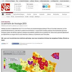 Le Palmarès 2013 de l'écologie en France - Le palmarès de l'écologie 2013
