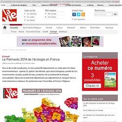 Le Palmarès 2014 de l'écologie en France - Palmarès de l'écologie 2014