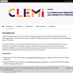 Palmarès 2016- CLEMI