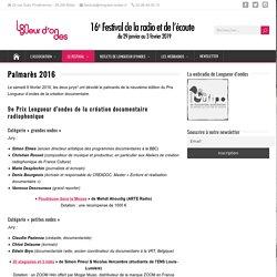 Palmarès 2016 - Longueur d'ondes