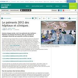 Le palmarès 2012 des hôpitaux et cliniques