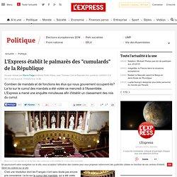 """L'Express établit le palmarès des """"cumulards"""" de la République"""