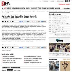 Palmarès des Deauville Green Awards