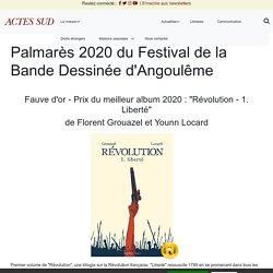 Palmarès 2020 du Festival de la Bande Dessinée d'Angoulême