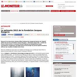 Le palmarès 2012 de la Fondation Jacques Rougerie - Projets