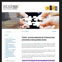 Twitter : premier palmarès de l'influence des universités et des grandes écoles