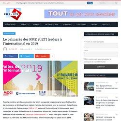 Le palmarès des PME et ETI leaders à l'international en 2019 - PME-ETI