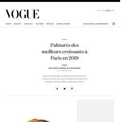 Palmarès des meilleurs croissants à Paris en 2019