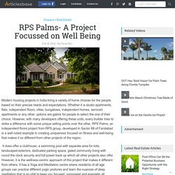 RPS Palms- A Project Focussed on Well Being